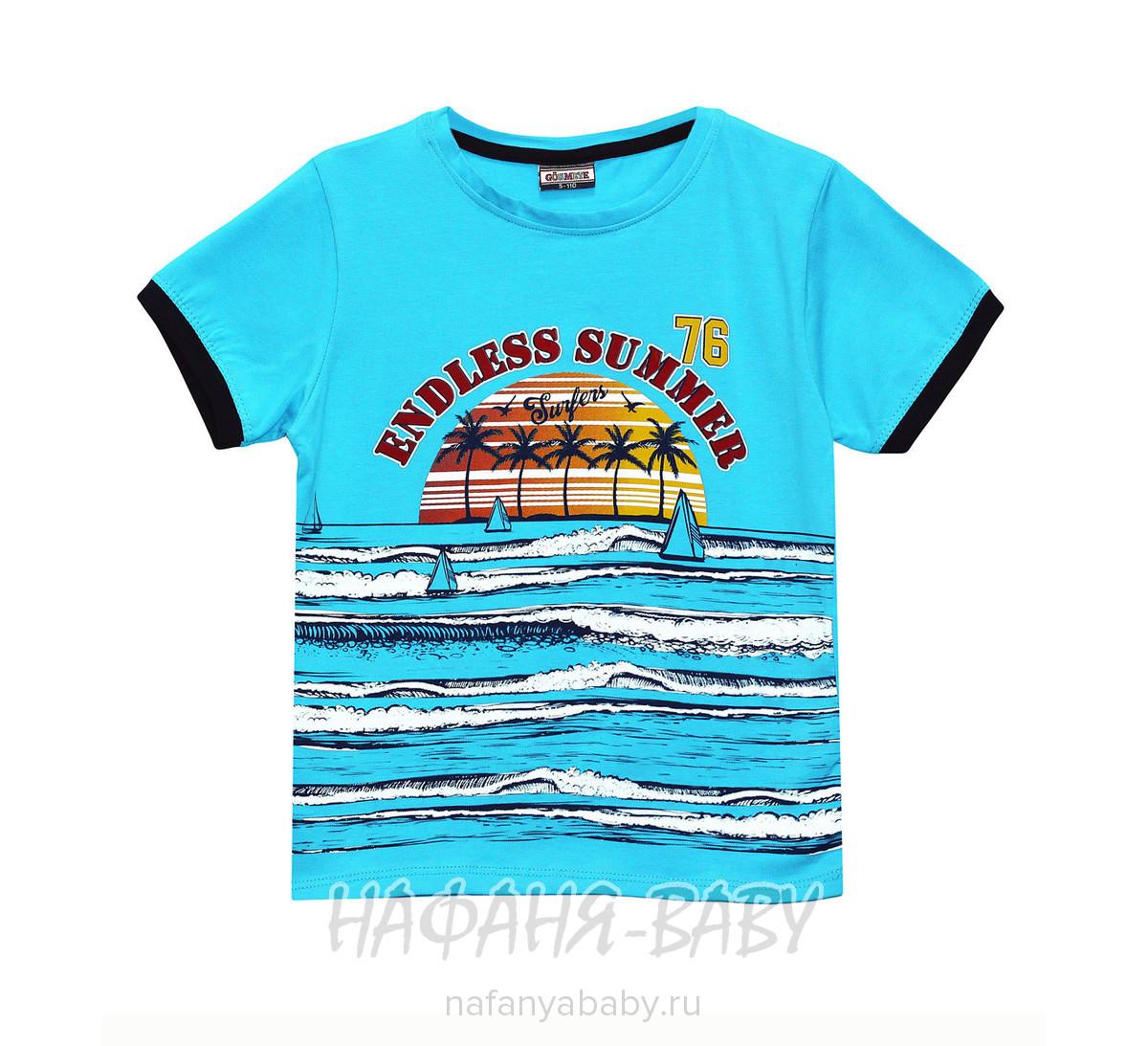 Детская футболка, артикул 7865 GOKMETE арт: 7865, 1-4 года, 5-9 лет, цвет белый, оптом Турция