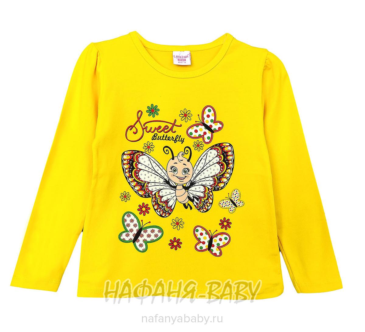 Лонгслив БАБОЧКА LUMINA арт: 11310, 1-4 года, цвет желтый, оптом Турция