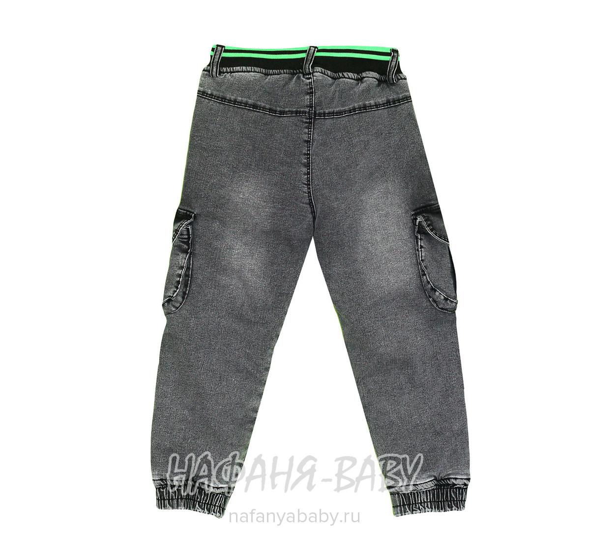 Детские теплые джинсы RIDAYEN арт: 1424, 5-9 лет, цвет черный, оптом Турция