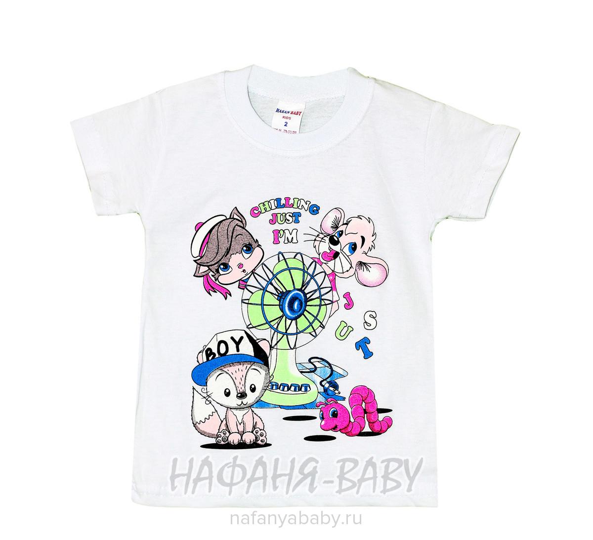 Детская футболка HASAN Bebe арт: 2031, 1-4 года, цвет персиковый, оптом Турция