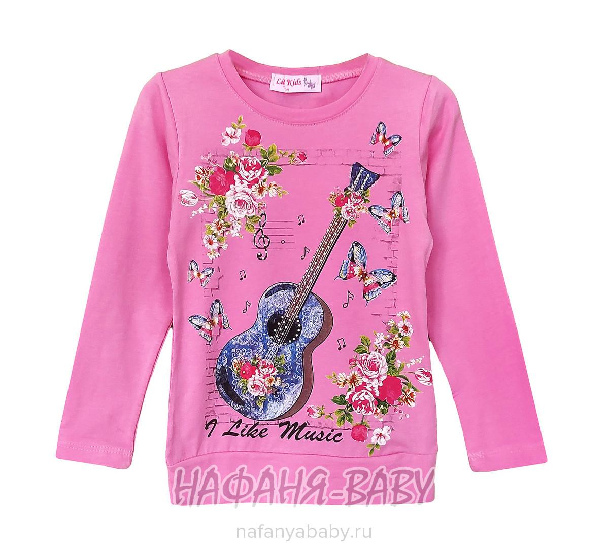 Свитшот ЛЮБЛЮ МУЗЫКУ LILI KIDS арт: 2257, 1-4 года, 5-9 лет, цвет розовый, оптом Турция
