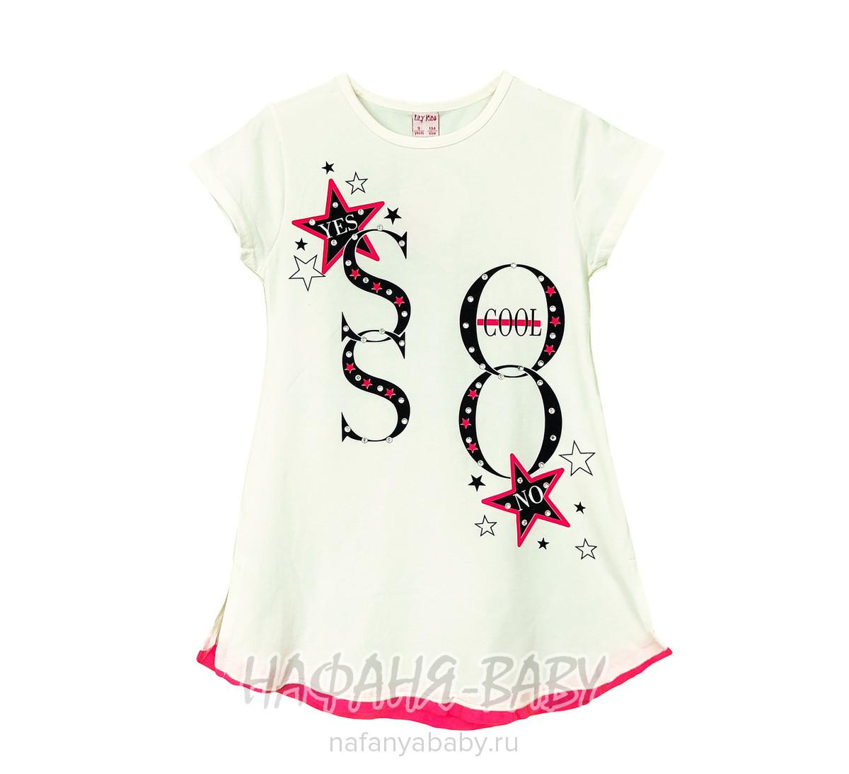 Подростковое платье-туника LILY Kids арт: 5021, 10-15 лет, цвет кремовый, оптом Турция