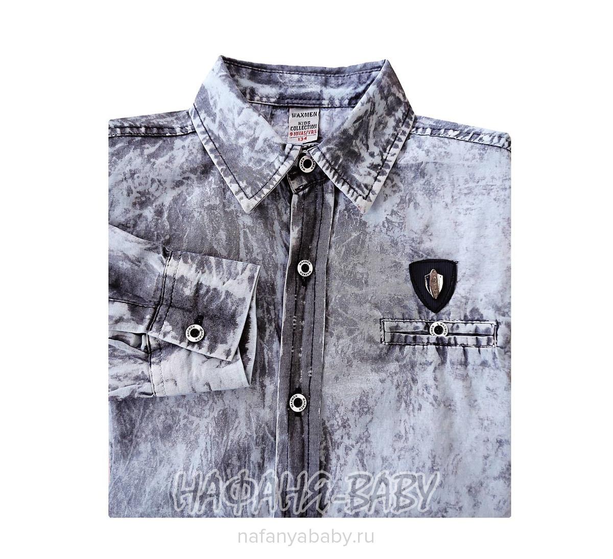 Рубашка с длинным рукавом WAXMEN арт: 5099-1, 10-15 лет, цвет темно-серый, оптом Турция