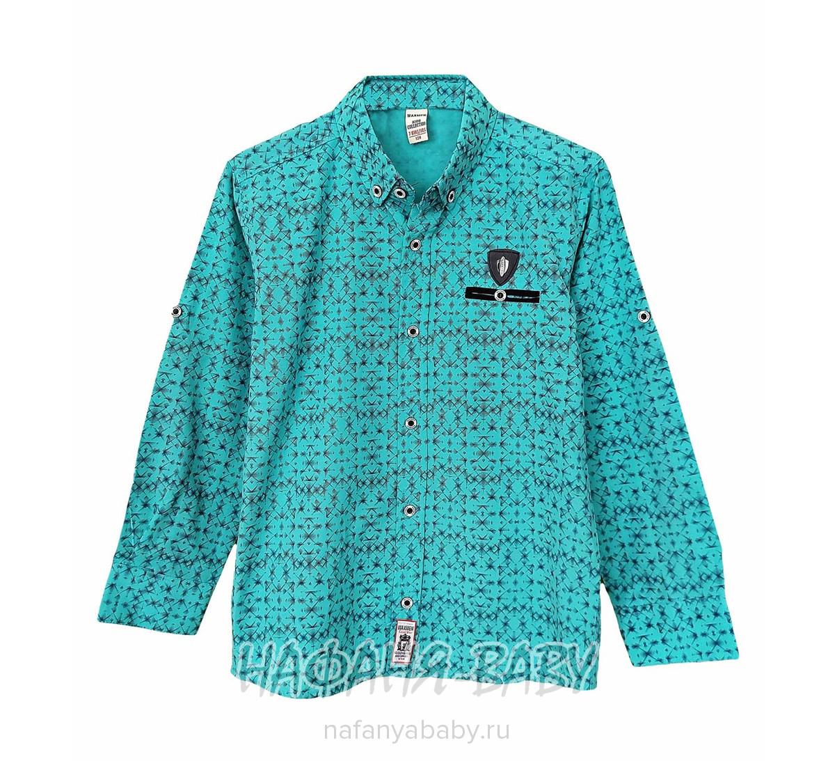 Детская рубашка WAXMEN арт: 5122, 1-4 года, цвет бирюзовый, оптом Турция