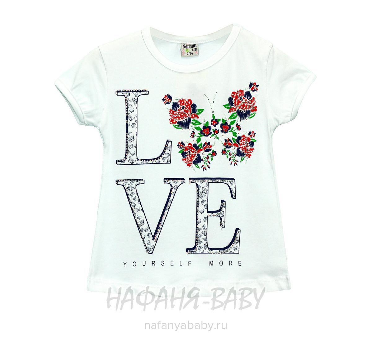 Детская футболка NARMINI арт: 5536, 5-9 лет, 1-4 года, цвет белый, оптом Турция