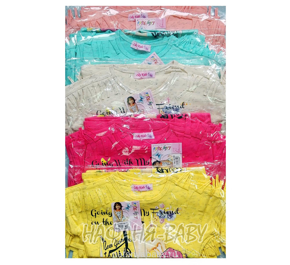 Детская футболка LILY Kids арт: 3519, оптом Турция
