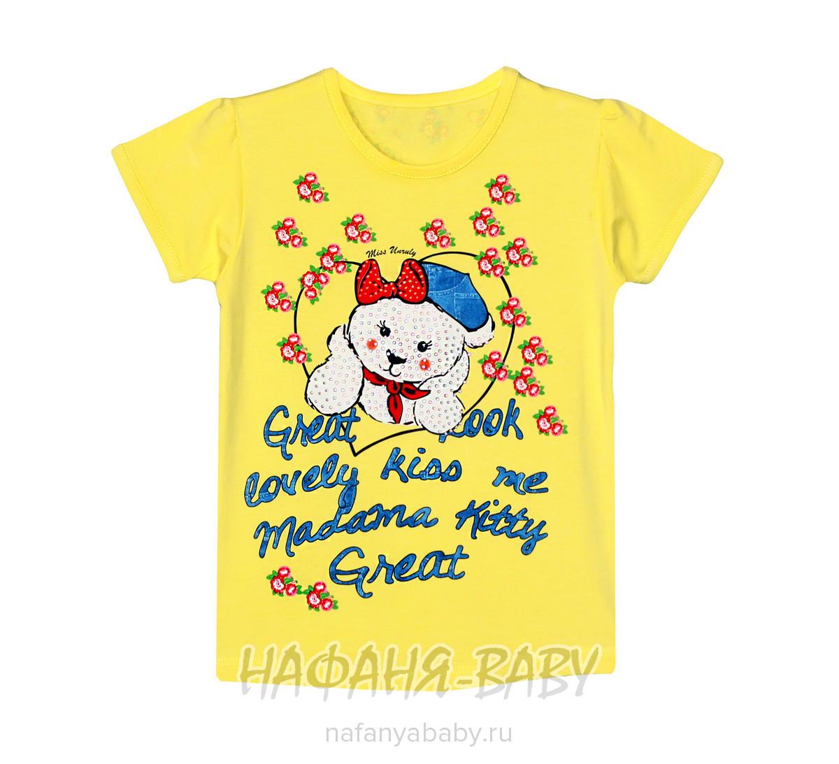 Детская футболка UNRULY арт: 2815, 5-9 лет, 1-4 года, цвет розовый, оптом Турция