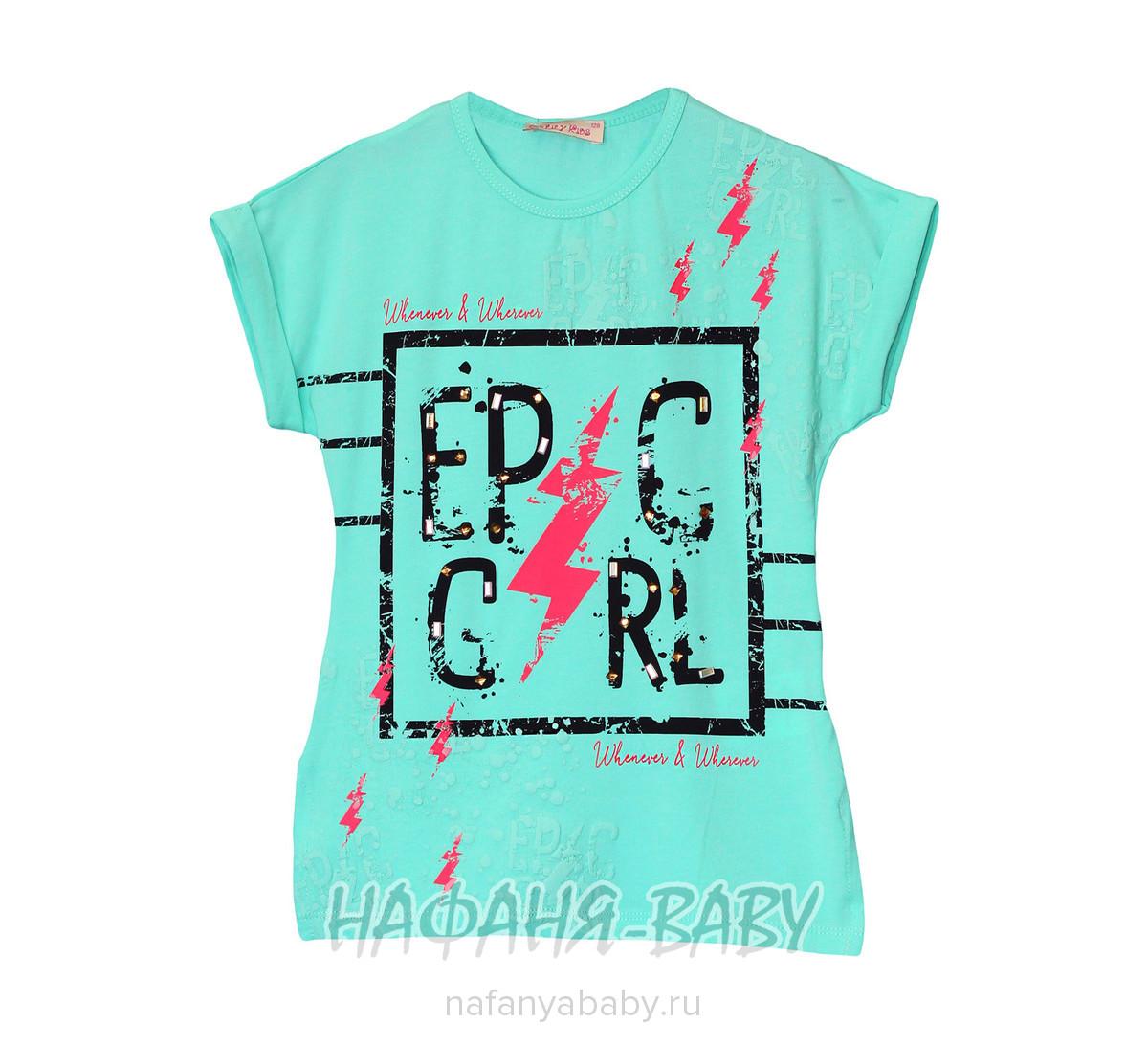 Детская футболка LILY Kids арт: 5031, 5-9 лет, 10-15 лет, цвет аквамариновый, оптом Турция