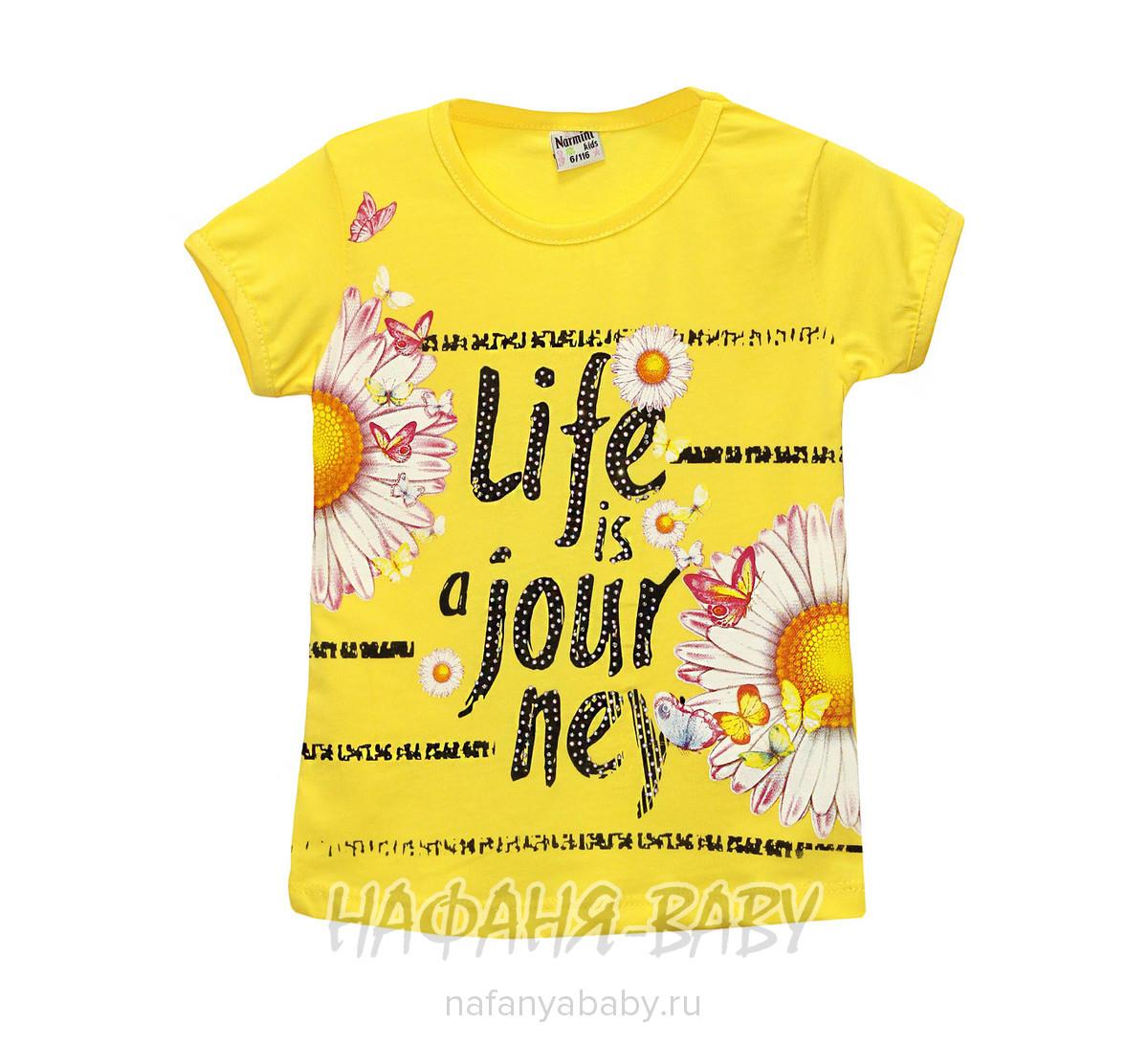Детская футболка NARMINI арт: 4656, 1-4 года, 5-9 лет, цвет розовый, оптом Турция