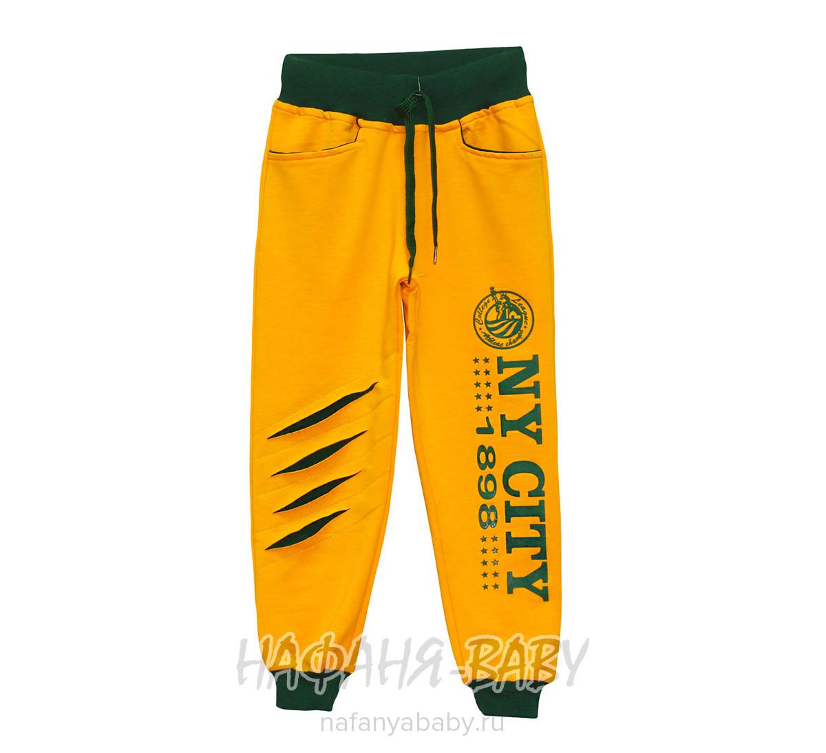 Детские брюки TNTS SPORTS арт: 2221 5-8, 1-4 года, 5-9 лет, цвет желтый с зелеными вставками, оптом Турция