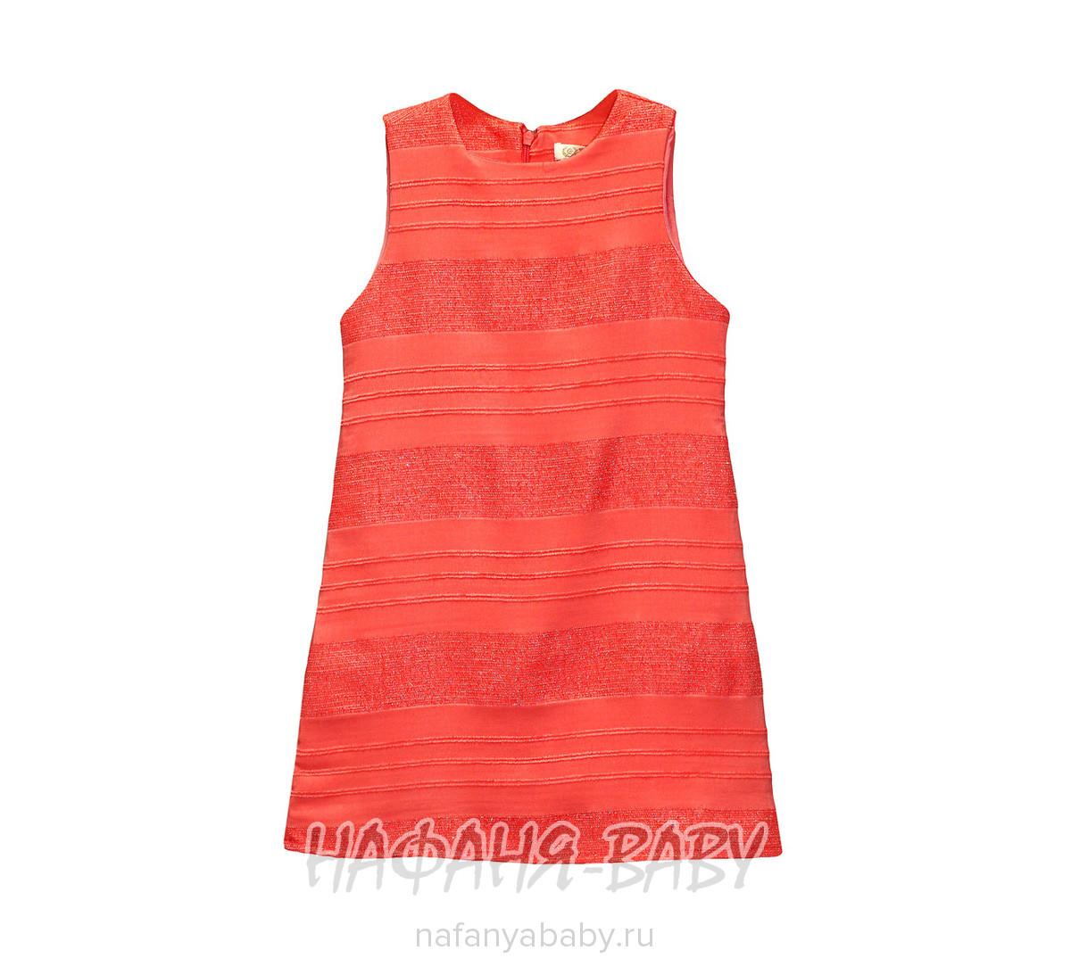Детское платье WECAN арт: 17221, 5-9 лет, 1-4 года, цвет коралловый, оптом Турция