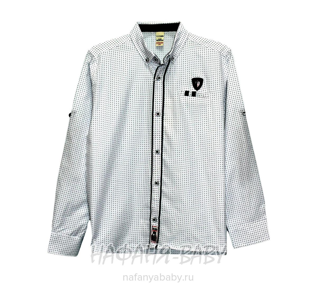 Детская рубашка WAXMEN арт: 5062-1, 10-15 лет, цвет белый, оптом Турция