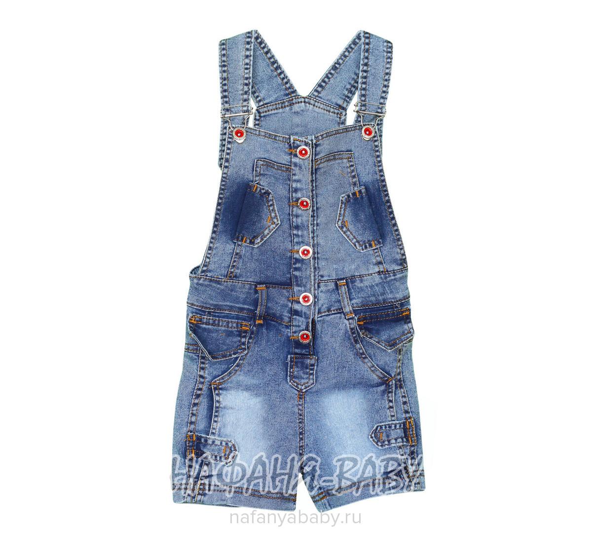 Детский джинсовый комбинезон-шорты AYNUR арт: 9234, 5-9 лет, цвет синий, оптом Турция