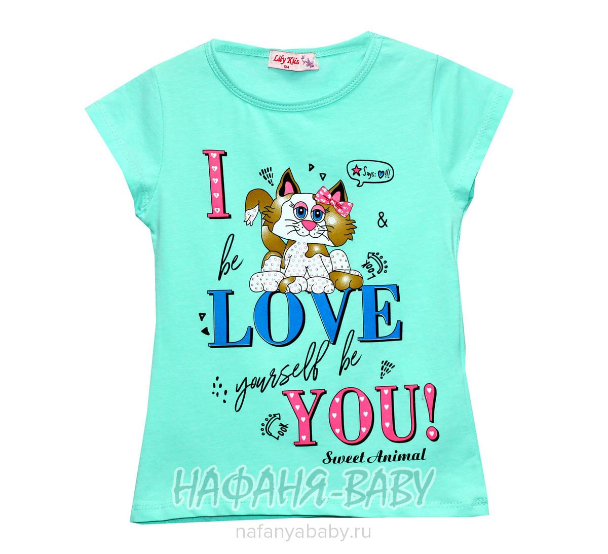 Детская футболка LILY Kids арт: 3578, 1-4 года, цвет персиковый, оптом Турция