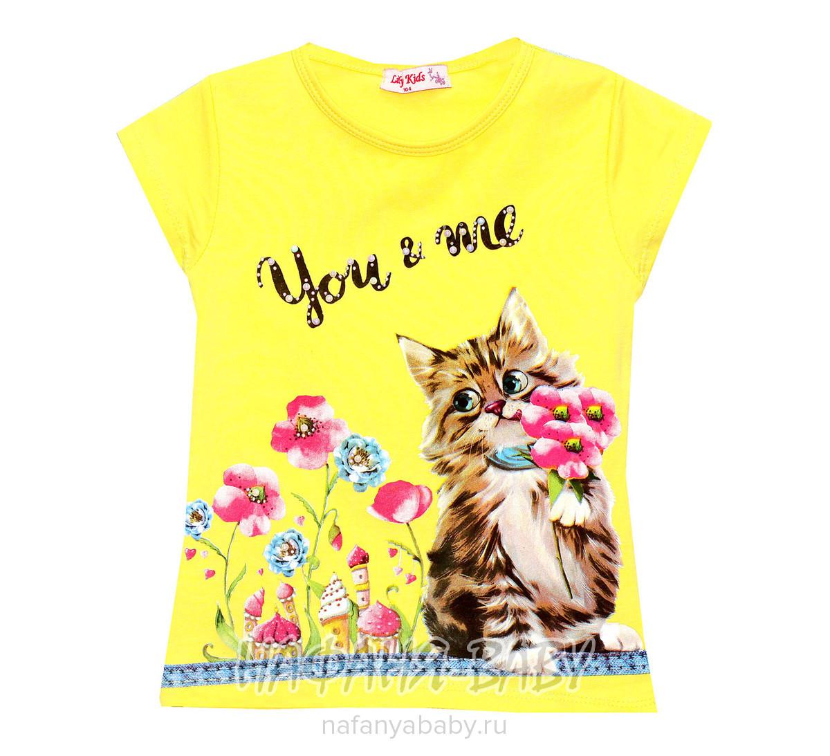 Детская футболка LILY Kids арт: 3574, 1-4 года, цвет желтый, оптом Турция