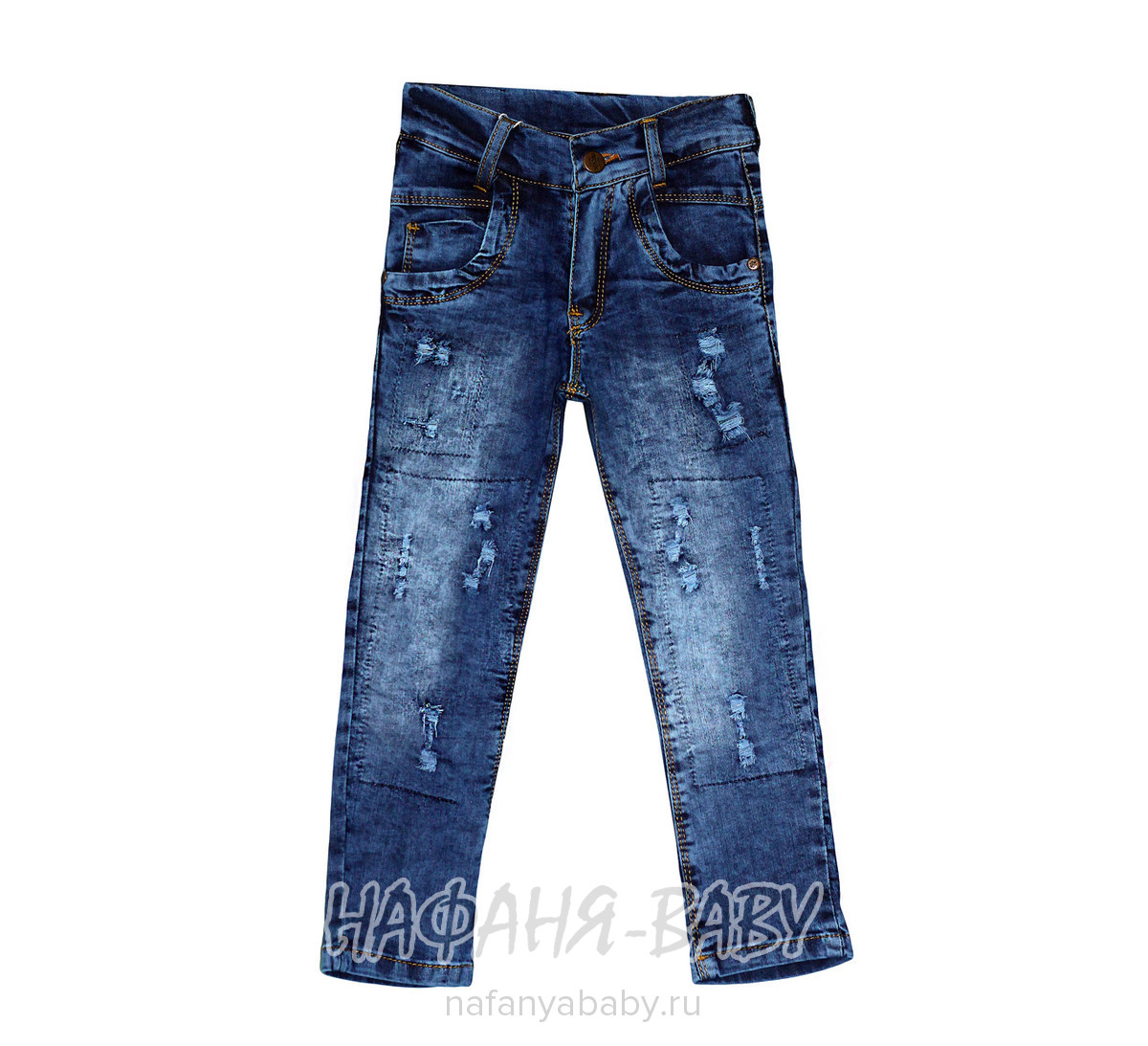 Детские джинсы, артикул 18253 SERCINO арт: 18253, цвет темно-синий, оптом Турция